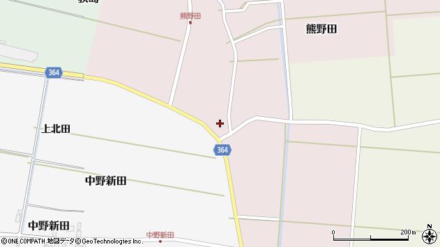 山形県酒田市熊野田村南71周辺の地図