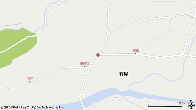 山形県最上郡金山町有屋159周辺の地図