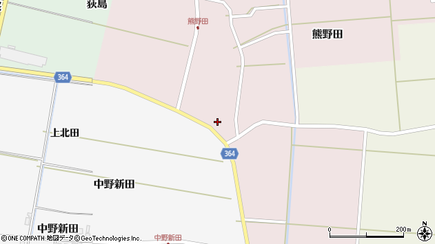 山形県酒田市熊野田村南周辺の地図