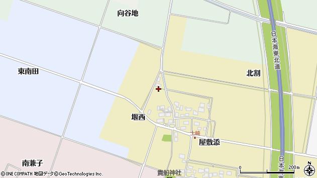 山形県酒田市土崎堰西11周辺の地図