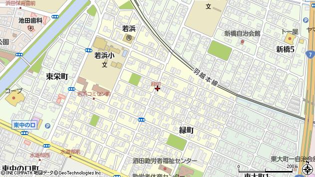 山形県酒田市緑町6周辺の地図