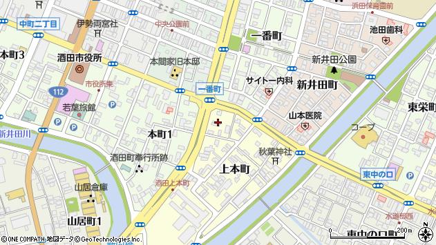 山形県酒田市上本町4周辺の地図