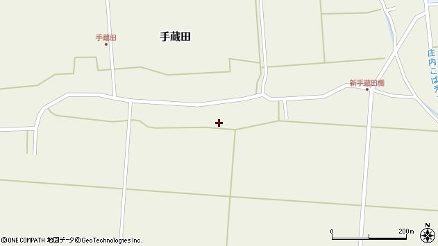 山形県酒田市手蔵田村建101周辺の地図
