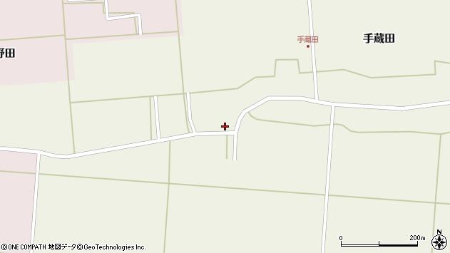 山形県酒田市手蔵田小堤23周辺の地図