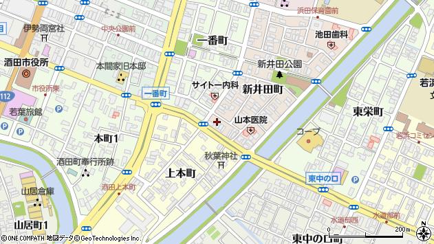 山形県酒田市新井田町14周辺の地図
