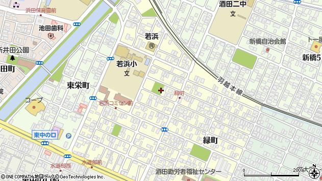 山形県酒田市若浜町4周辺の地図