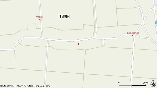 山形県酒田市手蔵田村建102周辺の地図