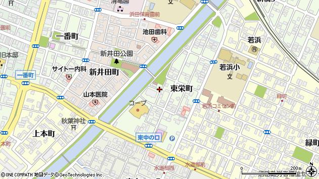 山形県酒田市東栄町9周辺の地図