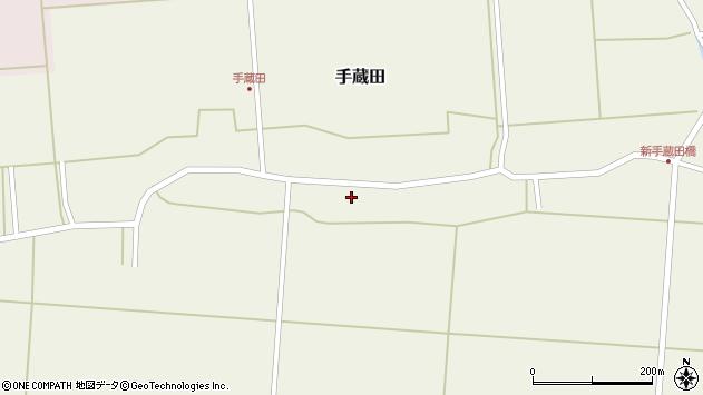 山形県酒田市手蔵田村建107周辺の地図
