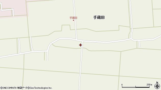 山形県酒田市手蔵田蔵南17周辺の地図