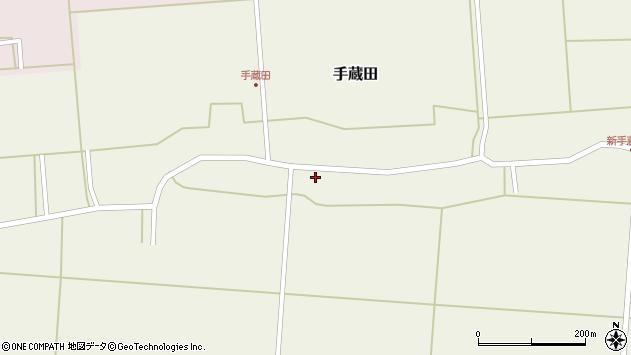 山形県酒田市手蔵田蔵南22周辺の地図