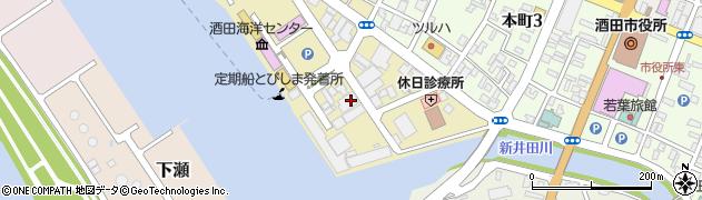 山形県酒田市船場町2丁目周辺の地図