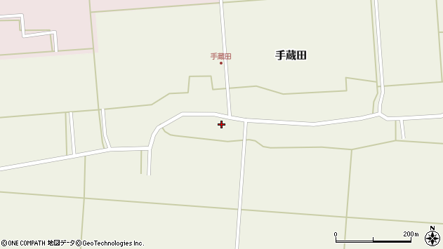山形県酒田市手蔵田蔵南38周辺の地図