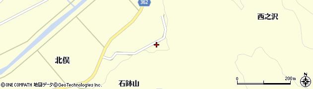 山形県酒田市北俣石鉢山30周辺の地図