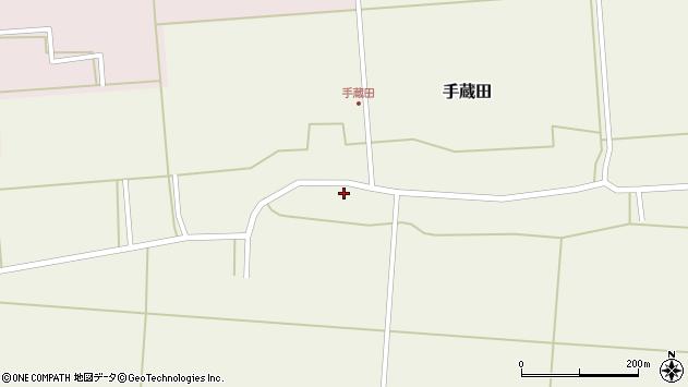 山形県酒田市手蔵田蔵南42周辺の地図
