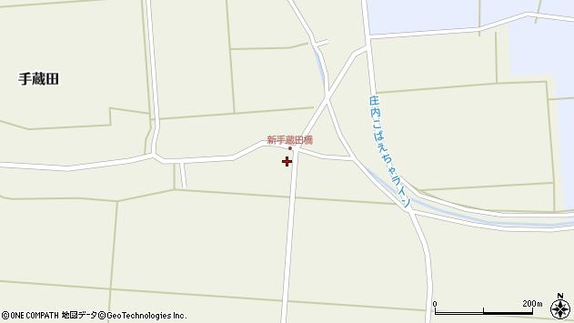 山形県酒田市手蔵田船通北2周辺の地図