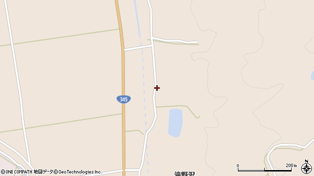 山形県酒田市生石滝野沢241周辺の地図