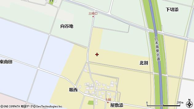 山形県酒田市土崎北割周辺の地図