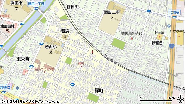 山形県酒田市緑町1周辺の地図