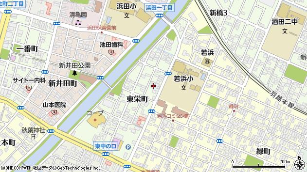 山形県酒田市東栄町6周辺の地図