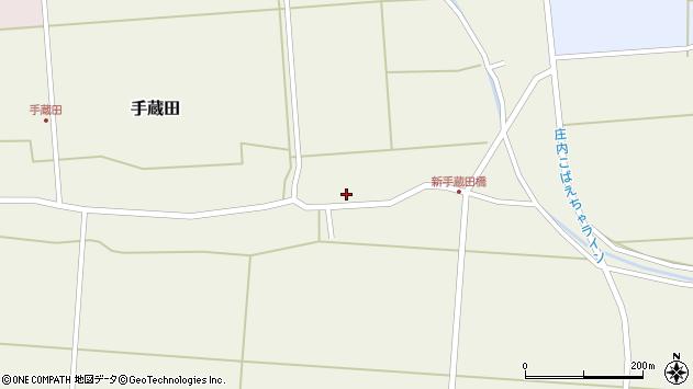 山形県酒田市手蔵田村建8周辺の地図