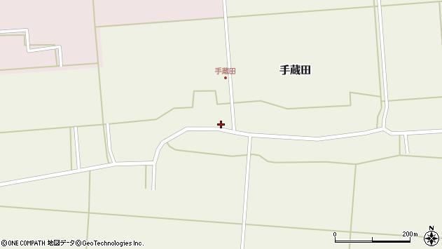 山形県酒田市手蔵田村建130周辺の地図