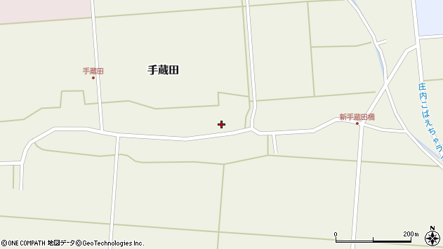 山形県酒田市手蔵田村建65周辺の地図
