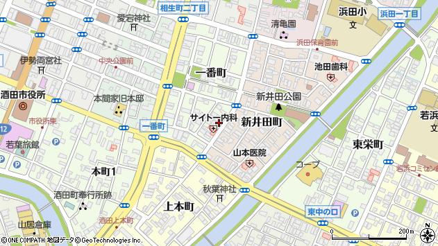 山形県酒田市一番町9周辺の地図