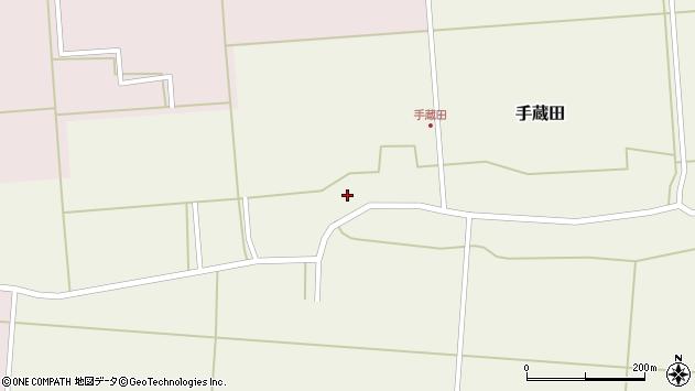 山形県酒田市手蔵田村建128周辺の地図