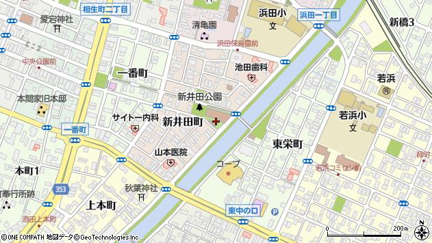 山形県酒田市新井田町10周辺の地図