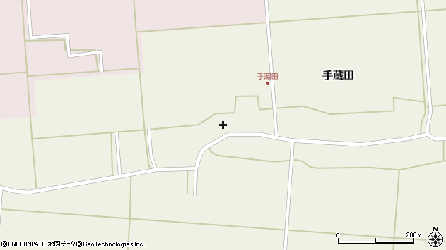 山形県酒田市手蔵田村建138周辺の地図