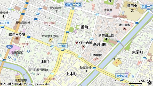 山形県酒田市一番町周辺の地図