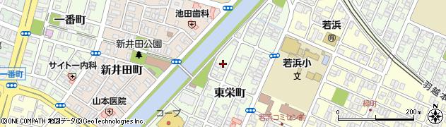 山形県酒田市東栄町4周辺の地図
