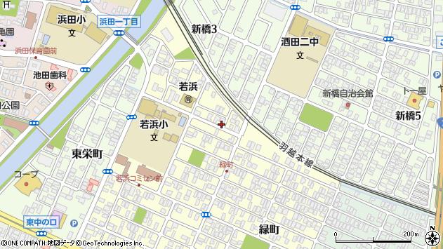 山形県酒田市若浜町23周辺の地図