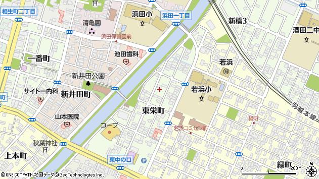 山形県酒田市東栄町5周辺の地図