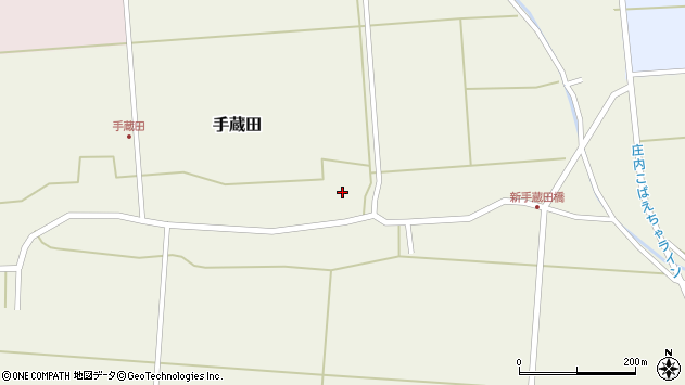 山形県酒田市手蔵田村建44周辺の地図