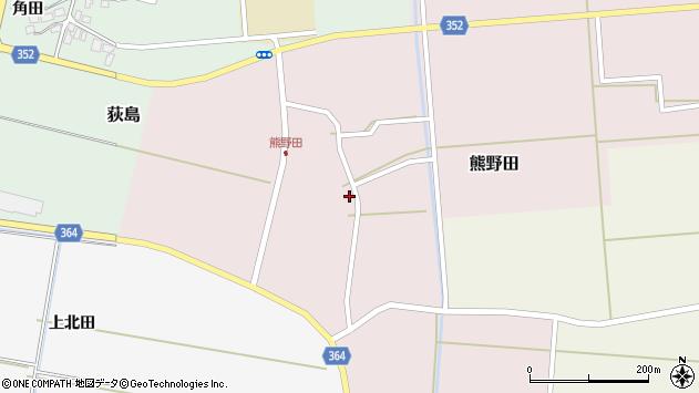山形県酒田市熊野田村南31周辺の地図