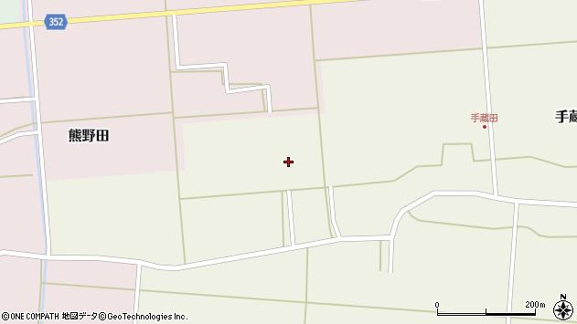 山形県酒田市手蔵田小堤54周辺の地図