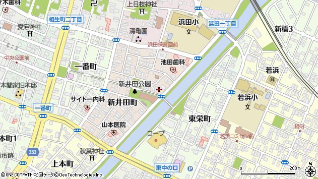 山形県酒田市新井田町7周辺の地図