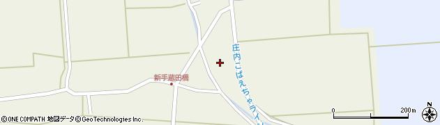 山形県酒田市手蔵田村上周辺の地図