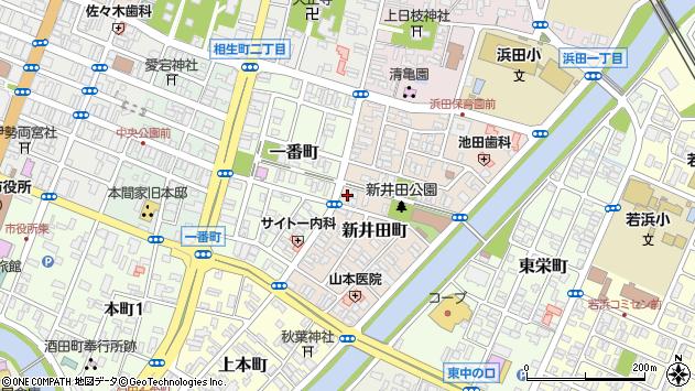 山形県酒田市新井田町9周辺の地図
