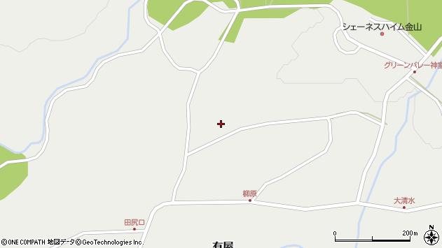 山形県最上郡金山町有屋147周辺の地図