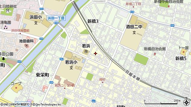 山形県酒田市若浜町22周辺の地図