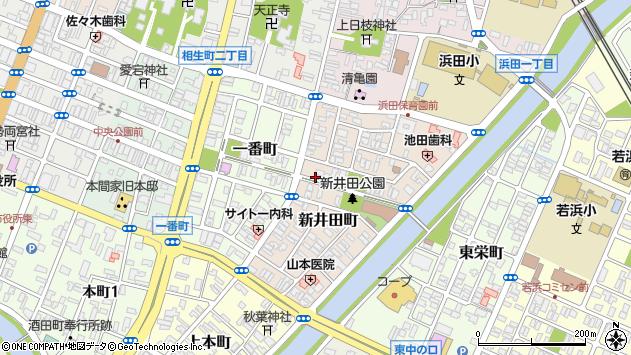 山形県酒田市新井田町8周辺の地図