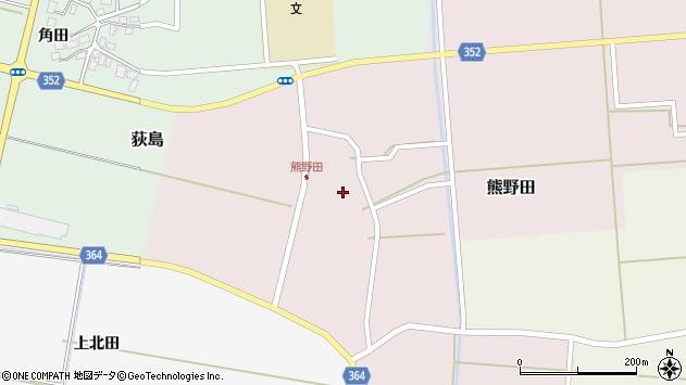 山形県酒田市熊野田仁田37周辺の地図