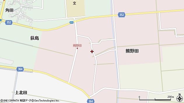 山形県酒田市熊野田仁田34周辺の地図