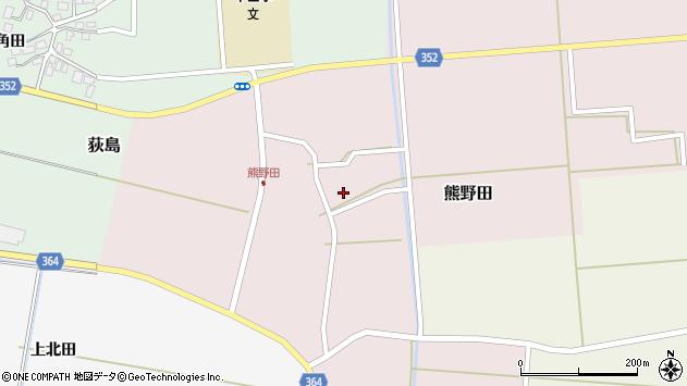 山形県酒田市熊野田仁田29周辺の地図