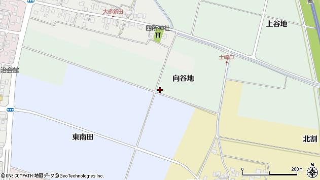 山形県酒田市漆曽根向谷地周辺の地図