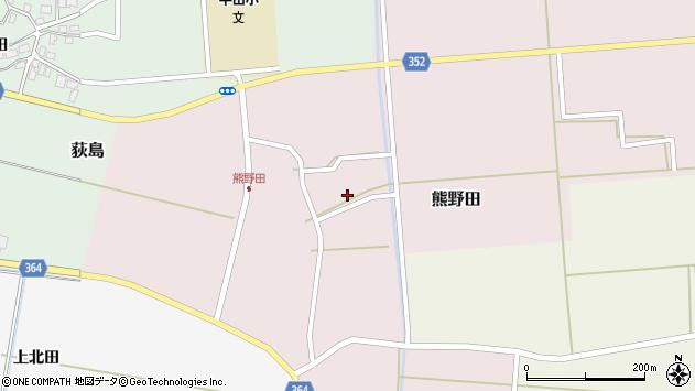 山形県酒田市熊野田仁田23周辺の地図