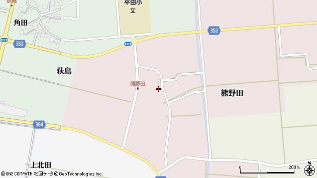山形県酒田市熊野田仁田周辺の地図
